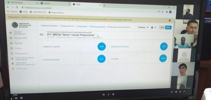 Областной вебинар по заполнению НОБД (Национальная образовательная база данных) в детско-юношеской спортивной школе на 2020-2021 учебный год